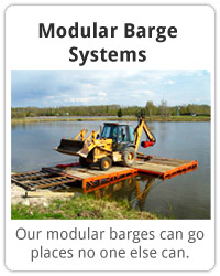 Modular Barge Systems. Our modular barges can go places no one else can.
