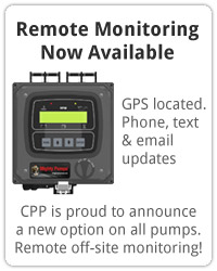 Remote Monitoring. CPP is proud to announce a new option on all new pumps. Remote off-site monitoring!